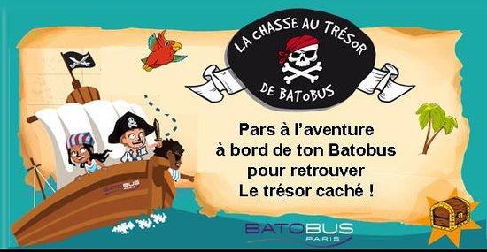 Chasse au Trésor Batobus - ouvert tous les jours