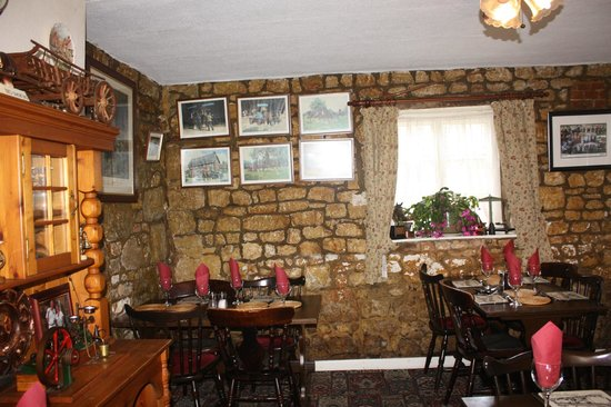 Interior of the Horseshoe Inn dating back to 14th century