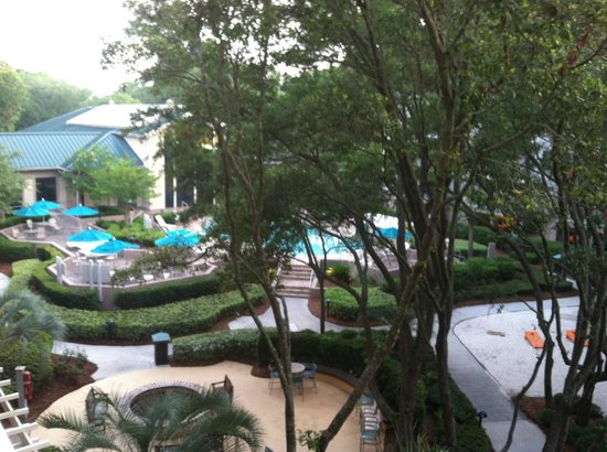 Marriott's Barony Beach Club: Courtyard View from Bayberry Building away from beach