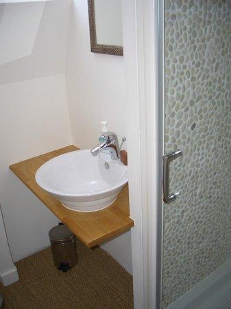 Chambres a Pourville : Salle de bains Chambre Cannelle