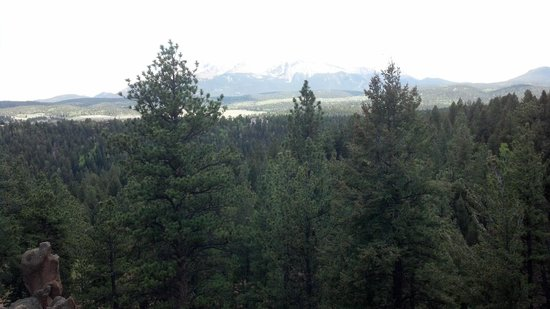 Pikes Peak Paradise Bed and Breakfast: Taken off our room's deck, Pic doesn't do it justice.
