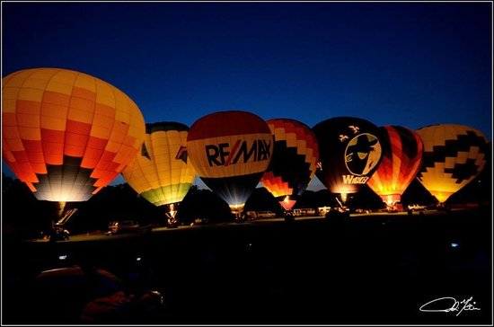Balloons of Vermont - Private Flights: Night Glow