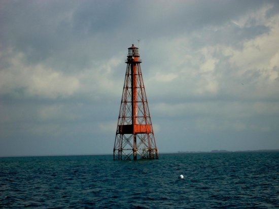 Royal Plum Club: Sombrero Lighthouse marks the living reef 2 miles off shore