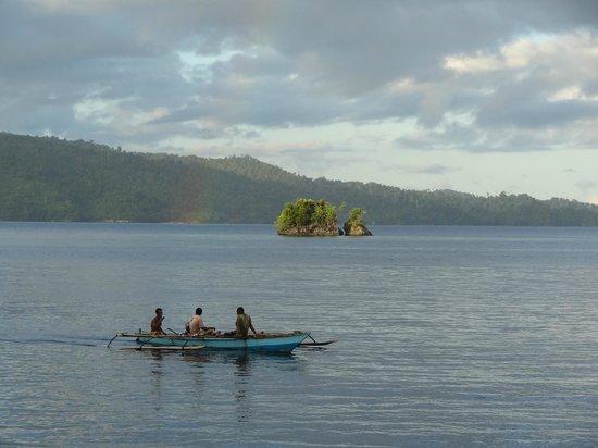 Raja Ampat Biodiversity Eco Resort: View from the beach