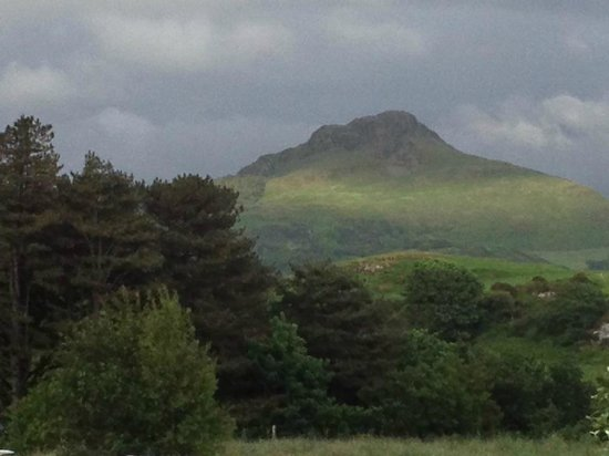 view from our tent at Eisteddfa Caravan & Camping site