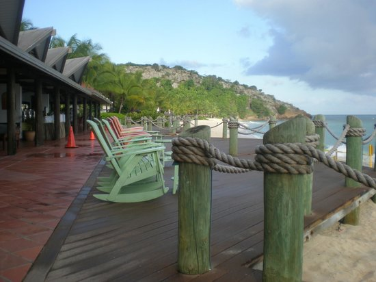Galley Bay Resort & Spa: Relaxing on the deck overlooking the ocean