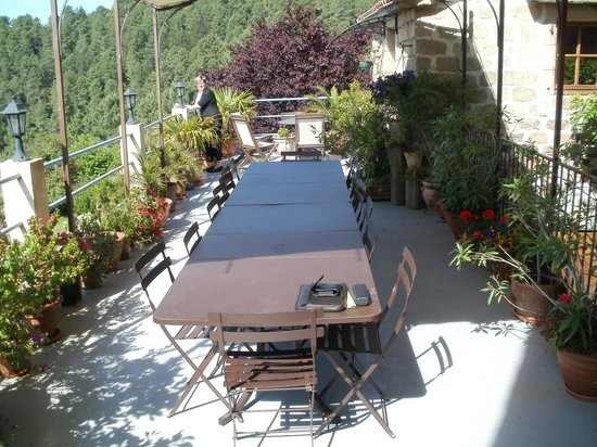 La Bastide d'Aguyane : La terrasse