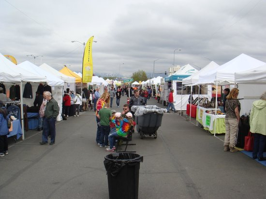 Anchorage Market & Festival: One of the broadways w/ vendor tents