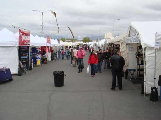 Anchorage Market & Festival: Vendor booths