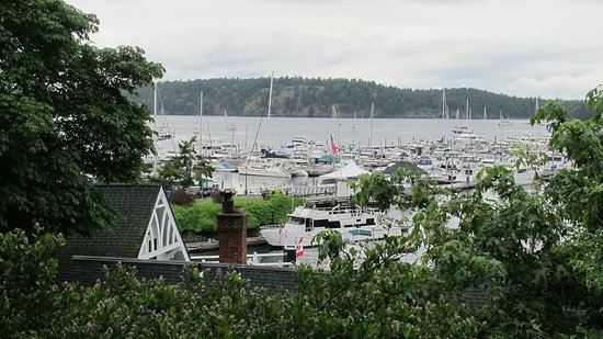 McMillin Suites at Roche Harbor Resort: Our room and a lovely view overlooking the harbor.