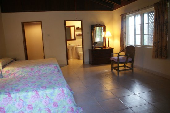 White Sands Negril: Our Deluxe Room.  Lots of space, but only one chair.