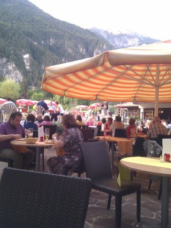 Alpen Adria Hotel & Spa: The patio (not for general dining)