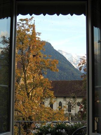 Hotel Interlaken: View from our room looking towards Jungfrau