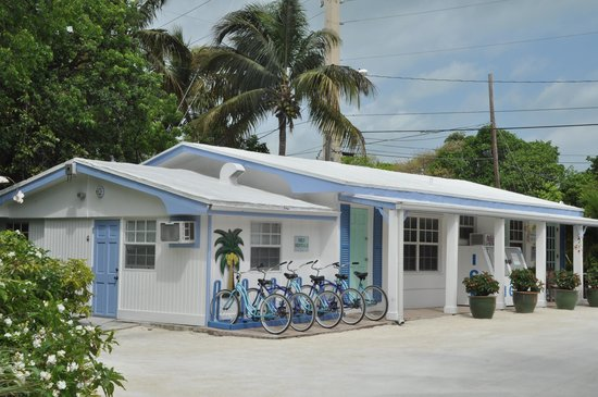 Pines and Palms Resort: Reception and bike rental