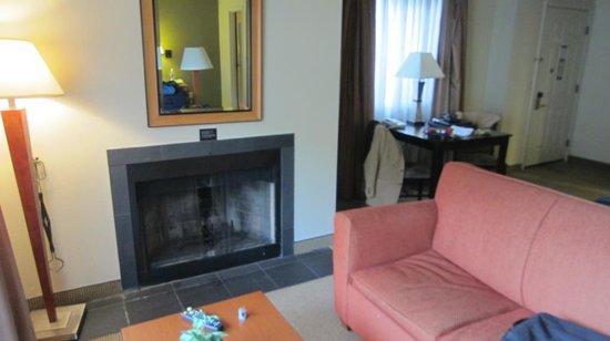 Hawthorn Suites by Wyndham Kent/Sea-Tac Airport: fireplace