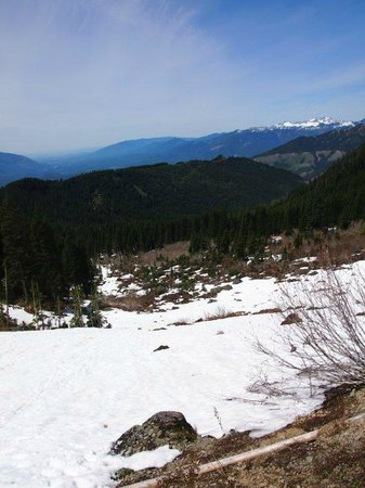 Sauk Mountain Trail: Snow Field before we even got to the parking lot