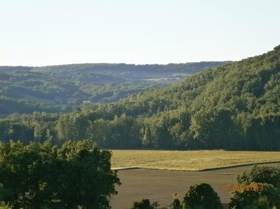 Milhars, France: View from the gite bedroom