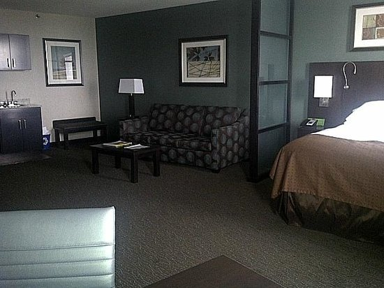 "Holiday Inn Hotel & Suites Saskatoon Downtown : View of room - from the windows facing the ""living area"""