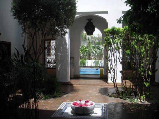 Riad l'Orangeraie: a view from the Nutmeg Suite