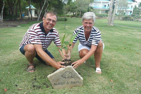 Dreams La Romana Resort & Spa: Planting the tree