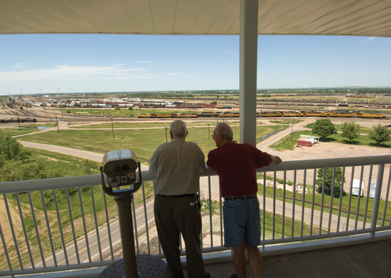 North Platte, NE: The view of Union Pacific Railroad's Bailey Yard from the Golden Spike Tower