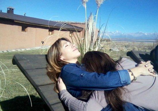 Estancia La Alejandra: descansando después del almuerzo y cabalgata