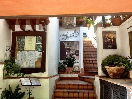 Restaurante Jardines Alberto: walk upstairs to the beautiful terrace seating