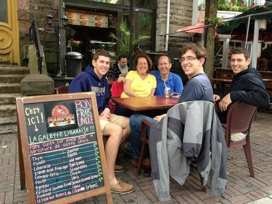 La Galette Libanaise : Old Quebec City, June, 2013