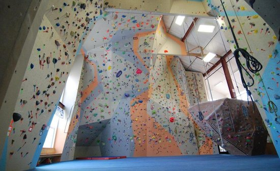 Spire Climbing Center: Main Gym East Wall