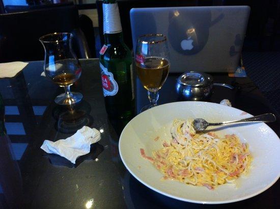 Royal Sun Hotel: spaghetti carbonara