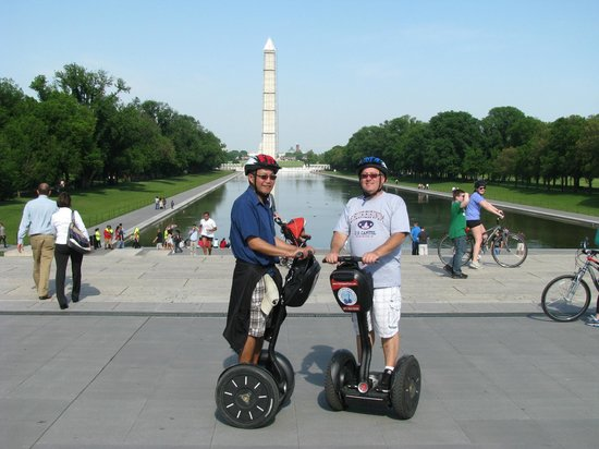 City Segway Tours DC : The Reflecting Pool from in front of the Lincoln Memorial
