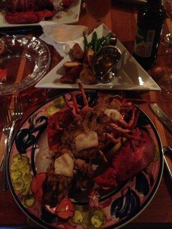The Oar House: Stuffed lobster