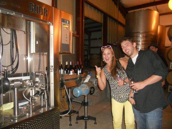 Indian Creek (Stowe) Winery: Having fun behind the scenes