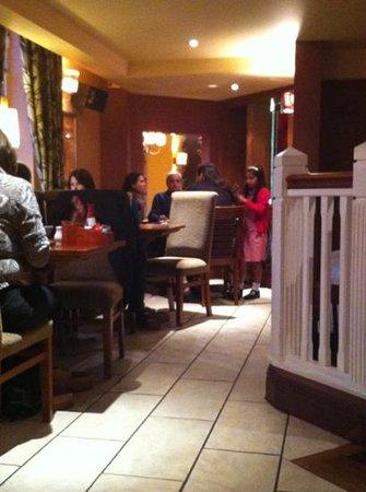 The Acorn Hotel: balcony dinner tables