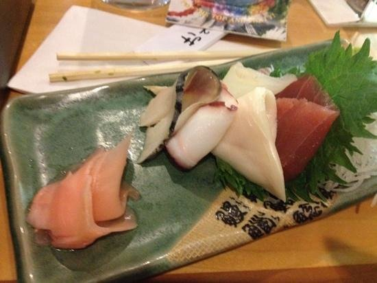 Heisei Restaurant: the sashimi part of the sashimi bento