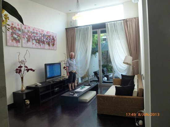 The Seiryu Villas: lounge looking to outside