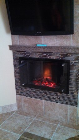 BEST WESTERN PREMIER Waterfront Hotel & Convention Center: 42 inch TV and elec. fireplace