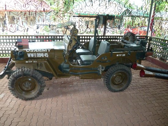 Shows a WWII Willy's Jeep - Things to do in Puerto Princesa