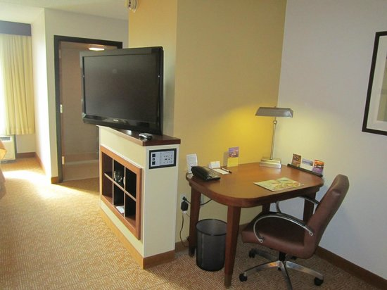 Hyatt Place Houston/Bush Airport: Sala de tv