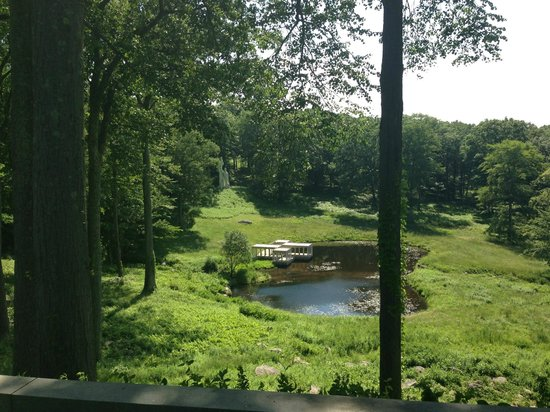 The Philip Johnson Glass House: Seen from The Glass House, the Pavilion and the Lincoln Kirstein Tower
