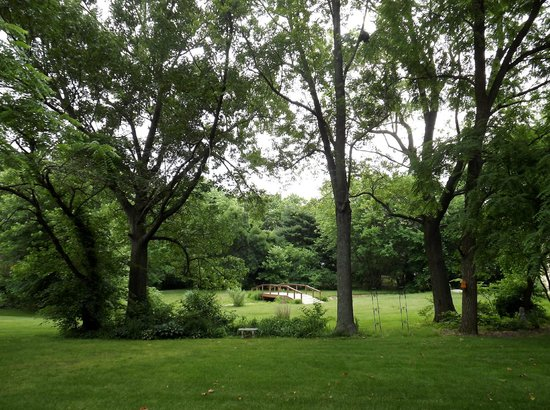 The Flagg Farmstead: The peaceful grounds surrounding the house