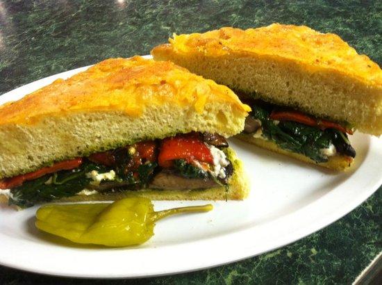 DeFalco's Italian Deli and Grocery: Grilled Portabella Mushroom Sandwich on Focaccia