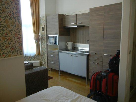 Ambassade Arena Aparthotel: Room 3A Kitchenette