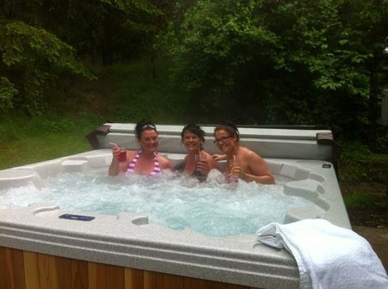 Centre Parcs Whinfell Forest: The hot tub - well used!