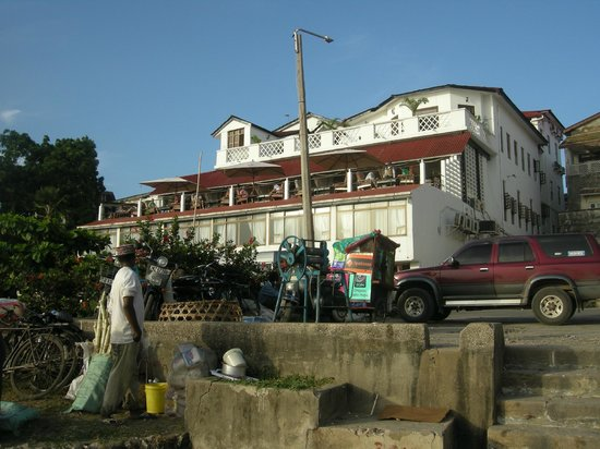 The Africa House Hotel: view from the market