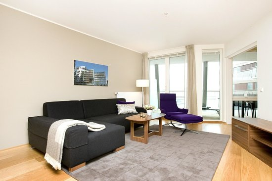 Tjuvholmen Suites: Superior apartment - living room