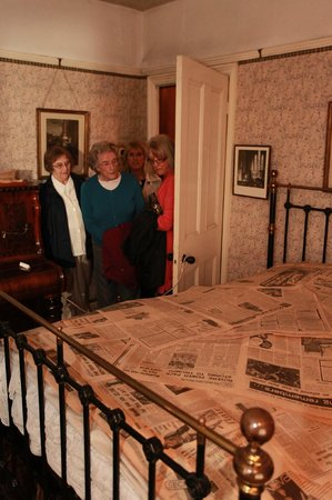Worksop, UK: Can you guess why there's so much newspaper covering their bed?