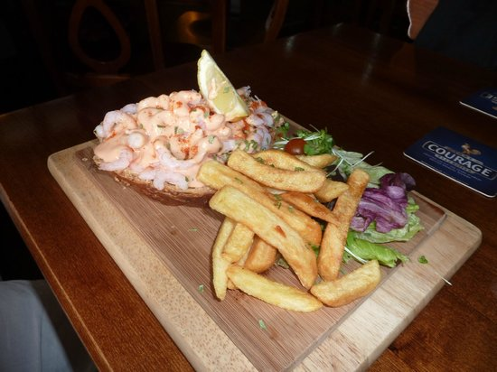 The Westbury Inn Pub : Prawn sandwich
