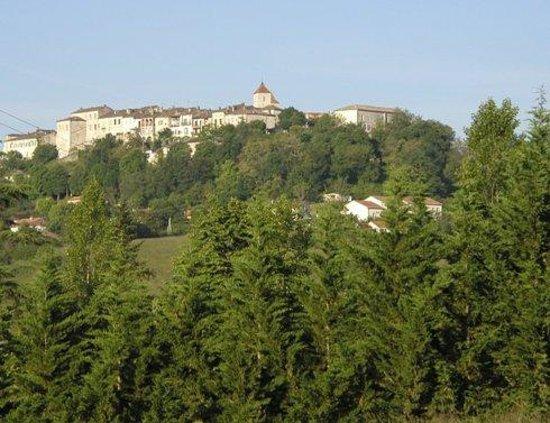 Tuc De St Paul: View of Lauzerte from the balcony