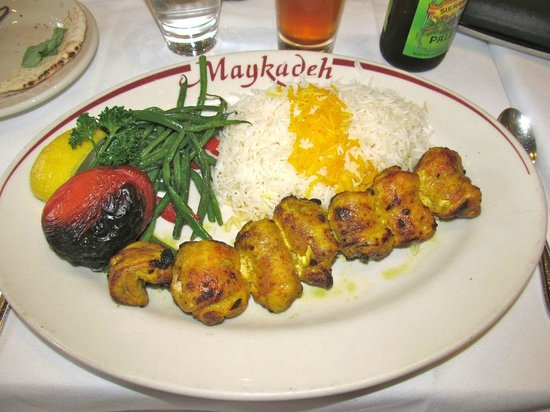Maykadeh : Chicken joojeh is really good
